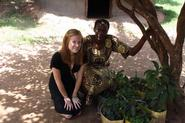 Sophie Boehm '11 with her Ugandan homestay mom.
