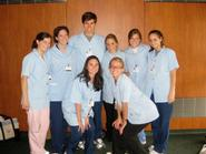 Some of Hamilton's pre-med students at Burke Rehabilitation Center