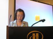 Haeng-ja Sachiko Chung presents at the American Anthropological Association meeting.