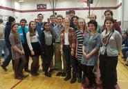 Hamilton science students judged the Clinton Middle School Science Fair.