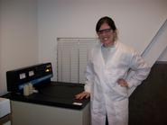Courtney Carroll '11 in the lab.