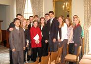 Justice Ginsberg with Hamilton Students