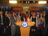 Program in Washington students with Ketura Brown '04 at the State Department.