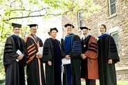 Professors Dave Bailey, Ernest Williams, Barbara Gold, John Eldevik, Jonathan Vaughan and Brent Plate.