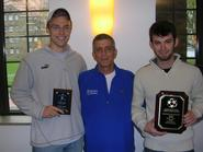 Marcus Dormanen '10 (left), Head Coach Perry Nizzi and Paul Moakler '10