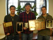 From left to right: Anthony Balbo '13, Dan Tempest '13 and Eric Boole '13