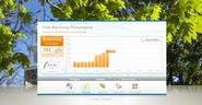 The Building Dashboard displays energy usage.