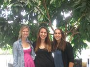 Carolyn Dopp '11, Liz Chapin '12 and Danielle Mortarano '12.