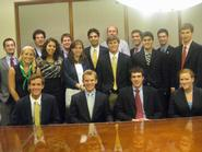 Students in the Program in Washington with Marc Elias '90.