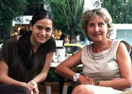 Beril Esen '13 with blogger and women's rights activist Nilgun Guresin.