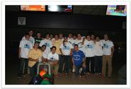 Members of the Hamilton College baseball team participate in Extreme Bowling Night to benefit the Boys & Girls Clubs of Utica on Oct. 21