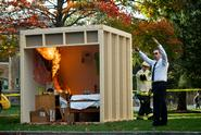 A mock dorm fire was staged in 2010.