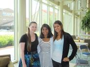 Bridget Fitzpatrick '13, Anisha Bhanot '13, and Marla Marquez '14.