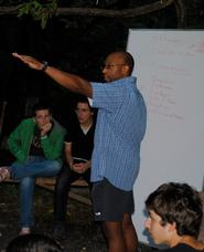 A. Todd Franklin leading a workshop at summer camp in the Republic of Georgia