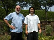 Sean Fujimori '14, right, with John Stewart Kennedy Professor of Philosophy Richard Werner.