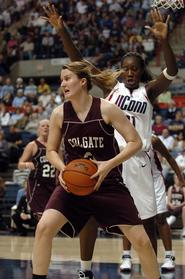 Hamilton assistant women's basketball coach Caitlin Gillard as a player at Colgate University.