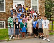 Opportunity Program students with President Joan Hinde Stewart.