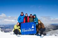 Outing Club members near Mt. Washington in New Hampshire.