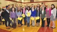 Hamilton students and faculty served as judges at the Clinton Middle School Science Fair.