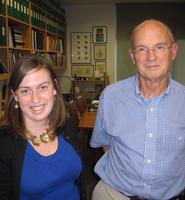 Jane Hannon '11 and Dr. Dale Purves.