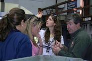 Katerina Adair, Katherine Anderson and Kenley Stark with Josh Simpson.