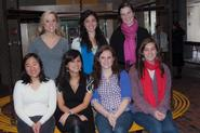 Seated from left, Wai Yee Poon, Sofia Guerron, Caitlin Lavin, Haley Riemer-Peltz. Standing: Galia Slayen, Kate Harloe, Lilly Gillespie.