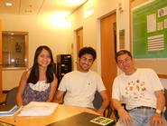 Chun Yee Lau '12, Ravi Jariwala '13 and Wei Jen-Chang.