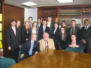 Hamilton's students in Washington, D.C., with Mike McCurry P'13.