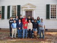 Washington students with Professor Rob Martin at Mt. Vernon.