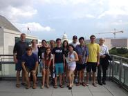 DC Program students on the balcony of the Newseum.