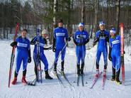 Members of Hamilton's Nordic Ski team.