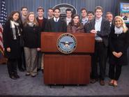 Program in Washington students visited the Pentagon and met with Fred Shear '03.
