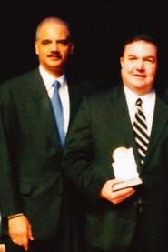 Michael Quinn '80 and Attorney-General Eric Holder