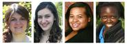 Jill Chipman '14, Haley Riemer-Peltz '12, Jennifer Roberts '14 and Lydia Rono '11.