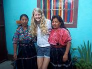Rebecca Ross '14 and Guatemalan women.