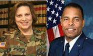 U.S. Army Col. Maritza Ryan and U.S. Air Force Col. James M. Durant III
