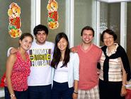 Startalk counselors Liza Strauss '15, Darius Izad '13, Lin Lin '13, Kevin Rovelli '15 and Professor Hong Gang Jin.