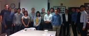 Program in NYC students with David Backus '75 and Professor Erol Balkan at NYU's Stern School of Business.