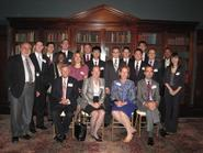 NYC program students with panelists, seated from left, Harold Bogle, Jennifer Murphy Hill, Susan Skerritt, Andrew Taylor.