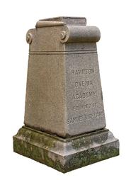 This stone, just south of the Chapel on campus, marks where the original Hamilton-Oneida Academy building stood.