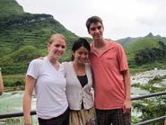 Seniors Chelsea Stone, Ashley Chang and John Garrison in China.