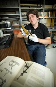 Adam Fix '13 at the Smithsonian's National Museum of American History.