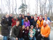 Hamilton students and staff at the Association for Experiential Education conference.