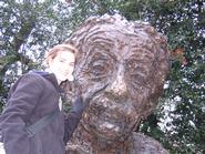 Annie Hudson at the Albert Einstein Memorial in Washington, D.C.