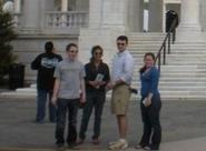 Michael London, Sanjana Nafday, Colleen Callaghan and Charlie Ruff at Tomb of Unknown Memorial.