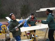 ASB students hone their construction skills on a 2010 trip.