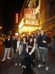 New York Program students and Prof. Derek Jones attended a performance of <em>Billy Elliot</em> on Broadway.