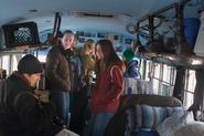 Students visit the BioTour bus. Photo by Greg Huffaker '09.