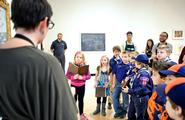 Local Boy Scouts toured the Wellin Museum on Dec. 12
