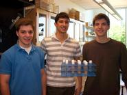 Andrew Brodsky '11, Steve Chaponis '10 and Jonathan Chaponis '10